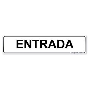 Placa Entrada 30x6,5 cm ACM 3 mm