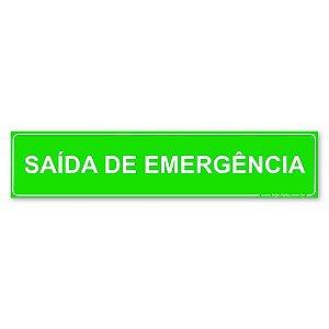 Placa Saída de Emergência 30x6,5 cm ACM 3 mm