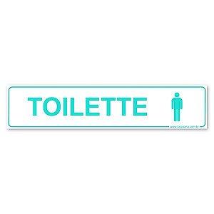 Placa Toilette Masculino