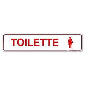 Placa Toilette Feminino 30x6,5 cm ACM 3 mm