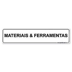 Placa Materiais & Ferramenta 30x6,5 cm ACM 3 mm