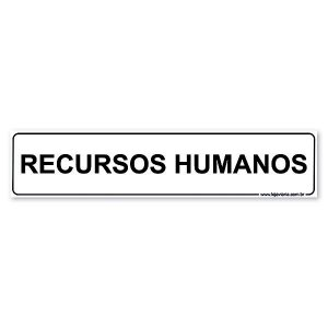 Placa Recursos Humanos 30x6,5 cm ACM 3 mm