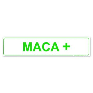 Placa Maca 30x6,5 cm ACM 3 mm