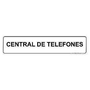 Placa Central de Telefones 30x6,5 cm ACM 3 mm