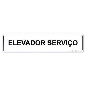 Placa Elevador de Serviço 30x6,5 cm ACM 3 mm