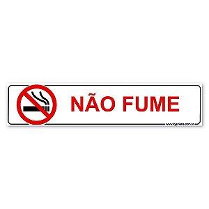 Placa Não Fume - 30x13 cm ACM 3 mm