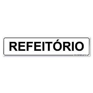 Placa Refeitório - 30x6,5 cm ACM 3 mm