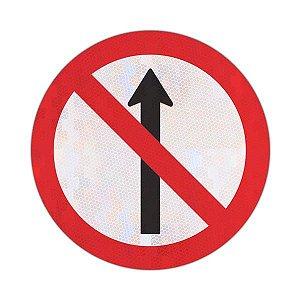 Placa sentido proibido R-3