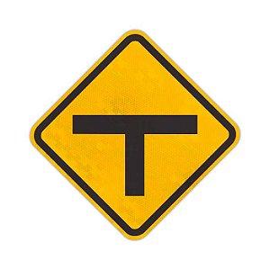 """Placa Interseção em """"T"""" A-8"""