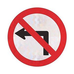 Placa proibido virar à esquerda R-4a