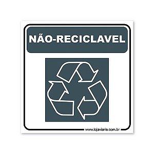 Placa Não Reciclável 18x18 cm ACM 3 mm