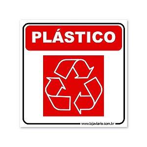 Placa Reciclável Plástico - 18x18 cm ACM 3 mm