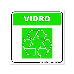 Placa Reciclável Vidro - 18x18 cm ACM 3 mm