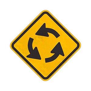 Placa Interseção em círculo A-12
