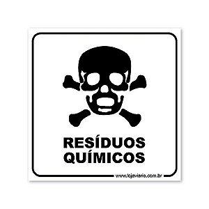 Placa Resíduos Químicos - 18x18 cm ACM 3 mm