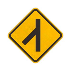 Placa Confluência à esquerda A-13a