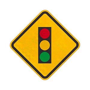 Placa semáforo à frente A-14