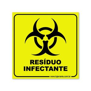 Placa Resíduo Infectante 18x18 cm ACM 3 mm