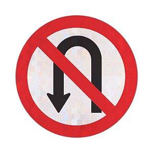 Placa proibido retornar à esquerda R-5a