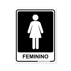 Placa Banheiro Feminino