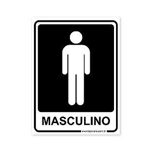 Placa Banheiro Masculino 15x20 cm ACM 3 mm