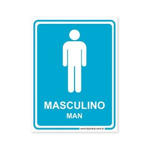 Placa Banheiro Masculino (Man) 15x20 cm ACM 3 mm