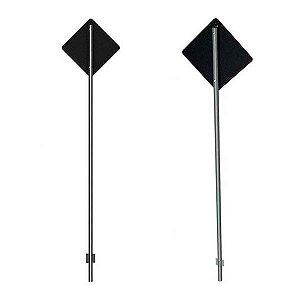 Poste de sinalização para placas de trânsito - Cilíndrico - Aço galvanizado