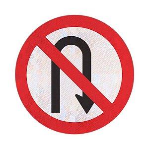 Placa proibido retornar à direita R-5b