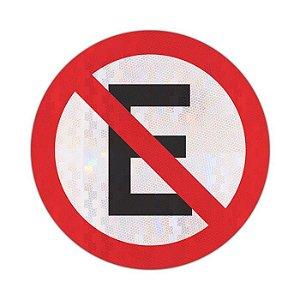 Placa proibido estacionar R-6a