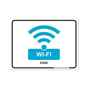 Placa de Wi-Fi 20x15 cm ACM 3 mm