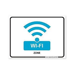 Placa de Wi-Fi - 20x15 cm ACM 3 mm
