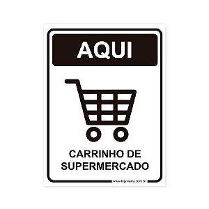 Placa Carrinho de Supermercado 15x20 cm ACM 3 mm