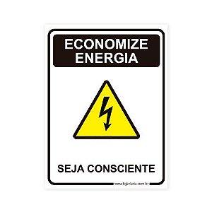 Placa Economize Energia 15x20 cm ACM 3 mm