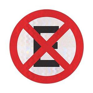 Placa proibido parar e estacionar R-6c
