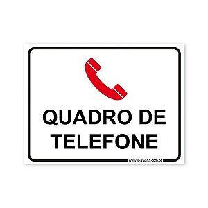 Placa Quadro de Telefone - 20x15 cm ACM 3 mm