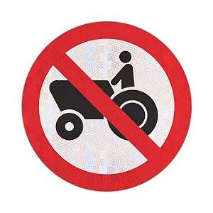 Placa Proibido trânsito de tratores e máquinas de obras R-13