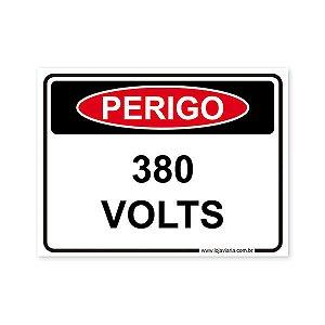 Placa Perigo, 380 Volts - 20x15 cm ACM 3 mm