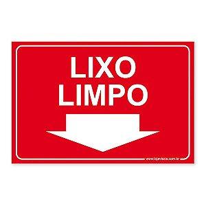 Placa Lixo Limpo - 30x20 cm ACM 3 mm