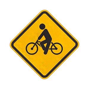 Placa Trânsito de ciclistas A-30a