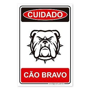 Placa Cão Bravo