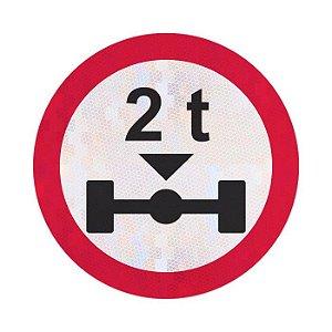 Placa peso máximo permitido por eixo R-17