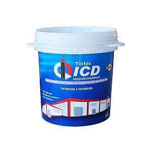 Tinta para parede - Acrílica premium fosca 3,6 L - ICD Vias