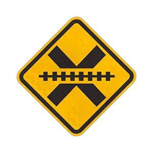Placa Passagem de nível sem barreira A-39