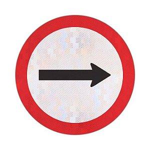 Placa Sentido de circulação da via/pista R-24a