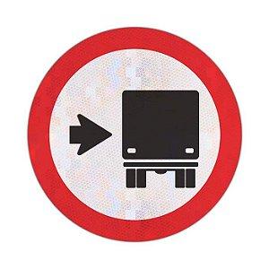 Placa Ônibus, caminhões e veículos de grande porte mantenham-se à direita R-27