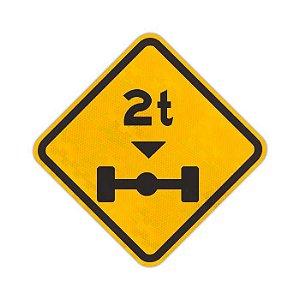 Placa Peso limitado por eixo A-47