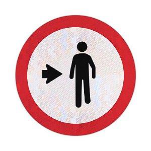 Placa Pedestre, ande pela direita R-31