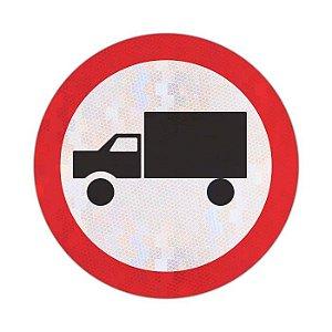Placa Circulação exclusiva de caminhão R-39