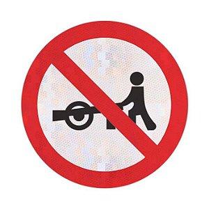 Placa Trânsito proibido a carros de mão R-40