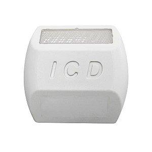 Tacha refletiva Monodirecional Plástico injetado - Branca - Tipo II - ICD Vias